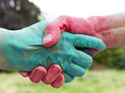 handen schudden groen rood 180 x 136
